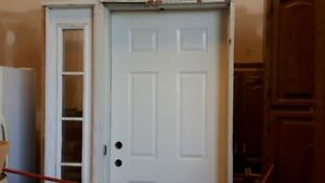 Exterior Door with side light and frame