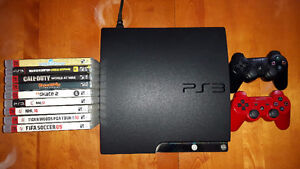 PS3 Slim 120GB, Controllers, Games