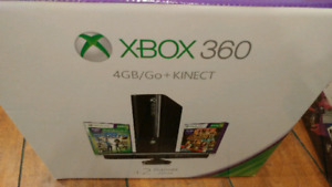 XBOX360 with KINECT & 2 GAMES (NEW SEALED IN BOX)