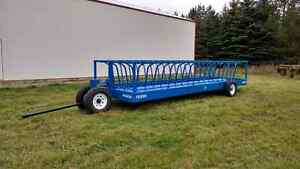 Hay or silage feed trailer