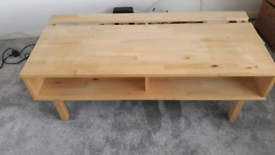 Pine television media stand