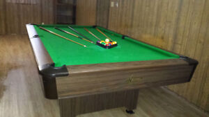 National Pool Table with slate bed