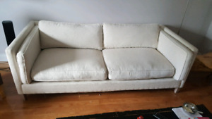 4 person 7 foot feather sofa