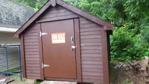 TOOL SHED    10 FEET WIDE  X 12 FEET LONG    DOOR 48 INCHES