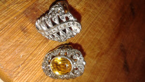 Two silver marcasite rings VTG