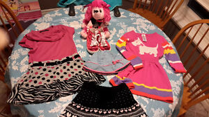 Selling girls 4t dresses, skirt, shoes, hat and puppy dog hand b