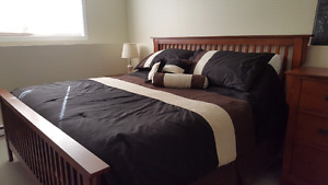 King size bedroom set and mattress