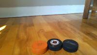 Rondelles de hockey à vendre