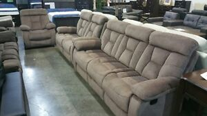 3 piece recliner set, high end fabric, very comfy, NEW IN BOXES