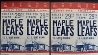 4 Maple Leafs Tickets!! Amazing seats!