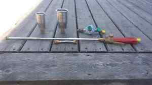 Brand new never used flat roofing torch set