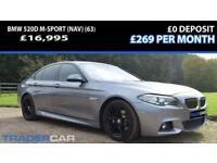 2013 55 BMW 5 SERIES 2.0 520D M SPORT 4D AUTO 181 BHP DIESEL