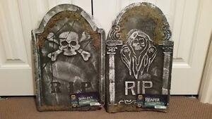 Halloween tombstones, new in packages