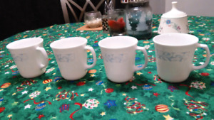 Corning sea and sand mugs made in USA