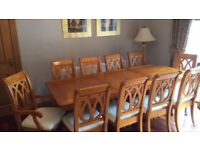 Dining Room Furniture Inc Table, 10 Chairs, Sideboard