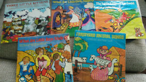 5 Mr. Pickwick 45 rpm children's vinyl 1966-1973. Vintage