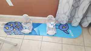 Kids snow board and binding