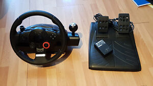 Logitech Driving Force GT racing wheel PS3/PS2/PC