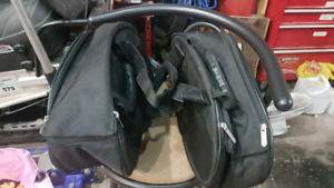 Saddle bags for skidoo or motorcycle
