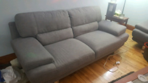 3 Piece Couch Set (Grey)