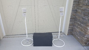 Bose Speakers with Stands & Passive Subwoofer