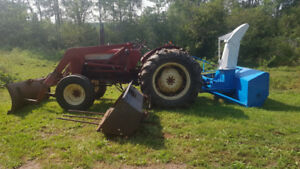 1969 B414 International tractor w/ snowblower etc.