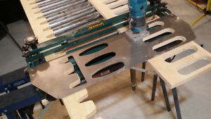 Custom making Metal Templates for woodworking.
