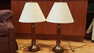 Roxton lamps - 2 in awesome condition