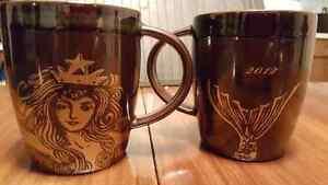 Starbucks 2012 Anniversary Siren Coffee Mugs