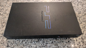 Playstation 2 console with controller