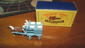 Matchbox Series #7 Horse Drawn Milk Float Blue