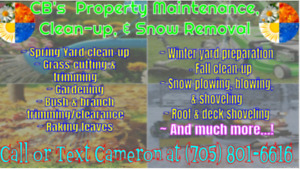 CB  property maintenance and snow removal