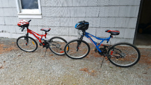 His and Her Supercycle Mountain Bikes