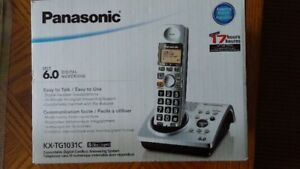 Dect 6.0 phone (Panasonic) with answering machine and 2 handsets