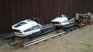Pair of Polaris TX 340 Snowmobiles