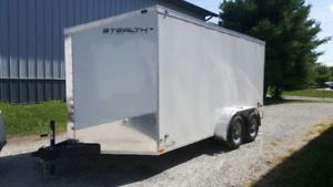 2019 7X14 BRAND NEW STEALTH ENCLOSED CARGO TRAILER