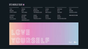 BTS World Tour Concert Ticket - Thursday Night