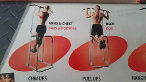 Pull up chin up dip bar power tower