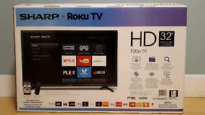 "Sharp Smart Roku HD TV 32"""