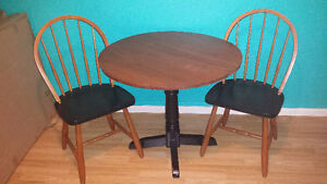 Kitchen Table and 2 chairs- Solid Wood