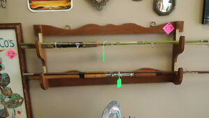 Old School Wall Gun Rack, Use For Fishing Rods, Axes, Pool Cues Prince George British Columbia image 1