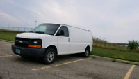 Cargo van ( full size ) available with driver