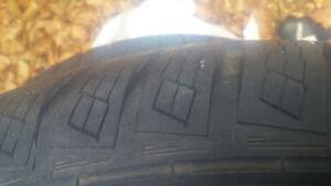 basically brand new tires on rims