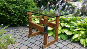 Antique workbench table