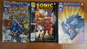 Sonic the Hedgehog comics #73-76, 84-85 and 94-135