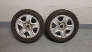 2x 215/55/17 Winter Tires & Rims Good Condition Toyota Venza West Island Greater Montréal image 1