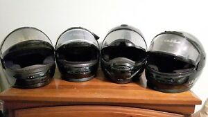 4 SNOWMOBILE FULL FACE HELMETS FOR SALE