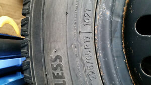 winter tires and rims 225/65r17 Peterborough Peterborough Area image 3