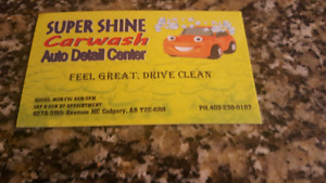 SUPER SHINE CAR WASH &AUTO DETAILING CENTRE 427A 38TH AVE Ne