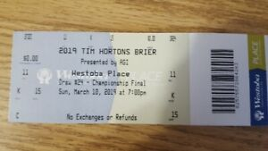 TWO 2019 BRIER TICKET PACKAGES